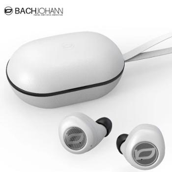 巴赫约翰  降噪无线蓝牙耳机 5.0版 真皮充电盒 T8迷你