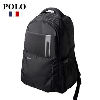 POLO潮流大容量防水双肩包电脑包