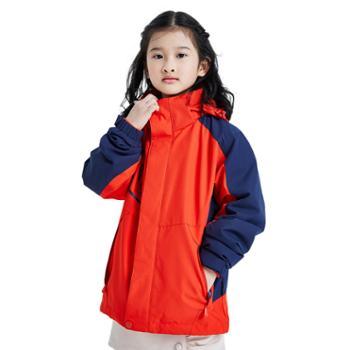 杜戛地儿童冲锋衣两件套三合一户外服
