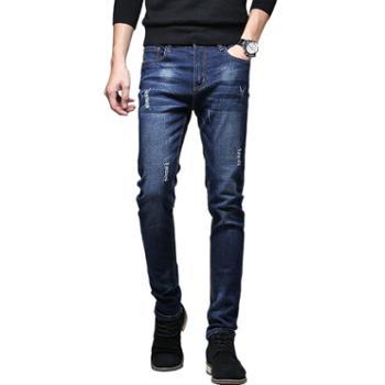 布朗华菲/BrownFairwhale 男士牛仔裤 修身直筒韩版小脚裤1018