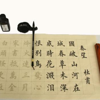 汝阳刘毛笔初学者书法字帖临摹套装