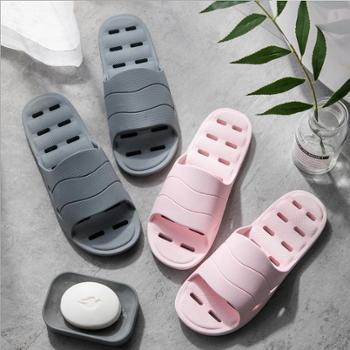 浴室速干防滑拖鞋 家用洗澡漏水镂空凉拖鞋