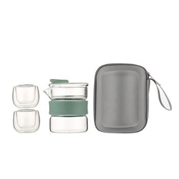 sohome高硼硅玻璃旅行茶具套装