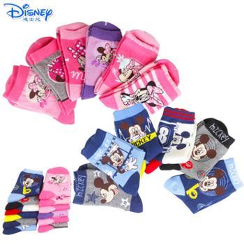 迪士尼米奇米妮男女儿童袜子六双装