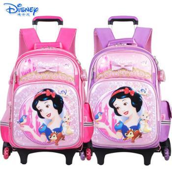 迪士尼公主小学生三轮可爬楼卡通拉杆书包PB0378