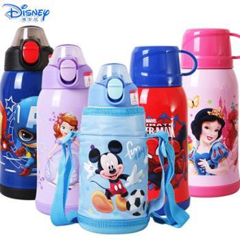 迪士尼儿童600ML双杯盖带杯套保温吸管直饮杯HM3202
