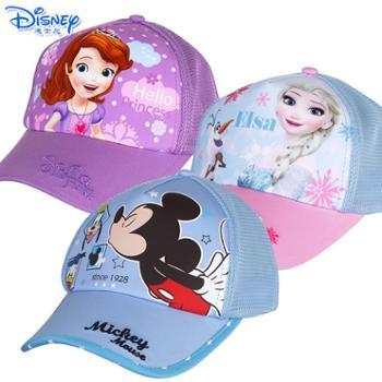 迪士尼儿童透气网眼遮阳鸭舌棒球帽