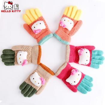 凯蒂猫五指针织手套KT-S9008
