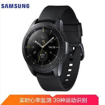 三星(SAMSUNG)Samsung Galaxy Watch智能手表 蓝牙通话手表(42毫米款)智能时间控制 39种运动追踪 午夜黑