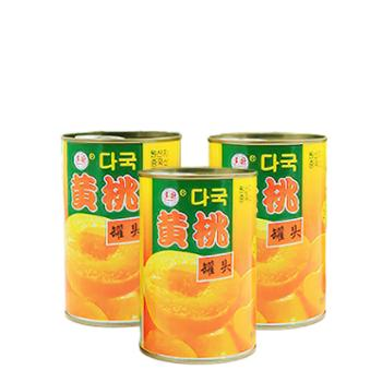 多国韩文黄桃罐头425G*5罐