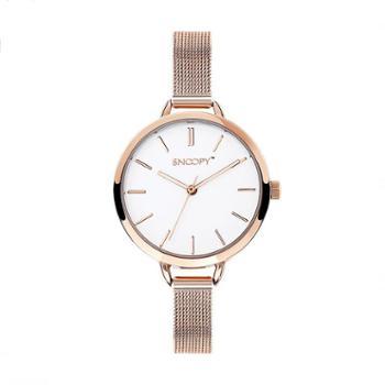 SNOOPY史努比手表简约潮流钢带防水石英女表SNW752EC-2531RG
