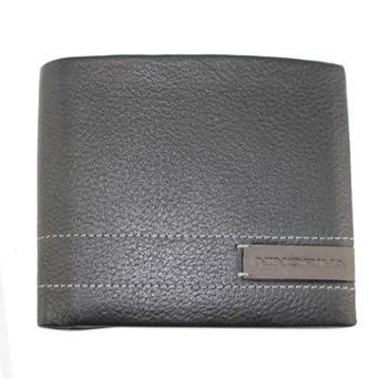 尼诺里拉NINORIVA 黑色短款牛皮革男士钱夹 NR60237-2