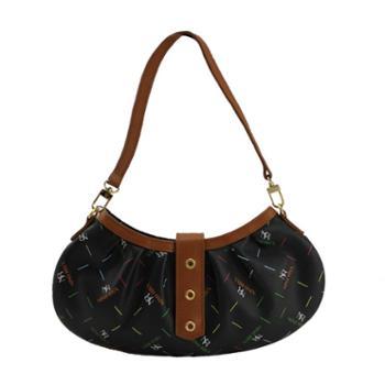 尼诺里拉NINORIVA 黑色织花料时尚单肩包 NR90164-12