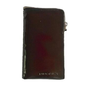 尼诺里拉NINORIVA黑色男士牛皮革竖款多功能短款钱夹NR60288-5