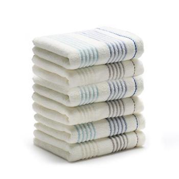 三利轻风纯棉面巾6条特惠装8371-3