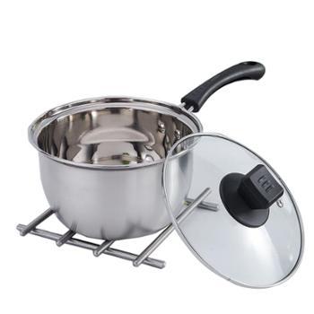 钢钢好不锈钢加厚奶锅