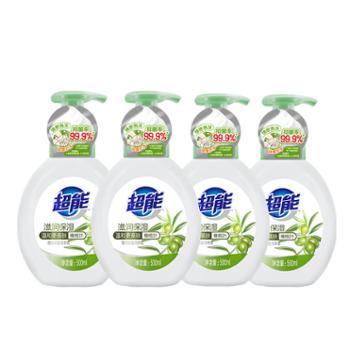 超能泡沫抑菌洗手液(滋润保湿)500ml*4瓶