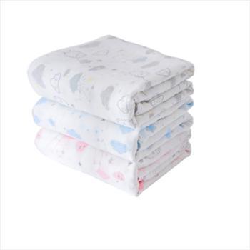 好孩子棉纺家居礼盒纱布大包巾1块+六层纱布毛巾2条+浮雕方巾2条