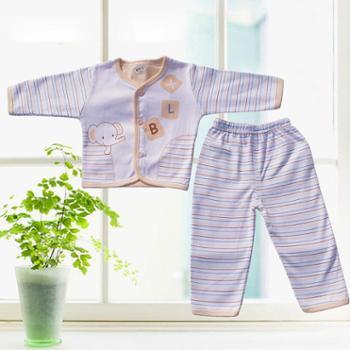 儿童精梳纯棉内衣套装宝宝秋衣秋裤对开对襟0-1岁