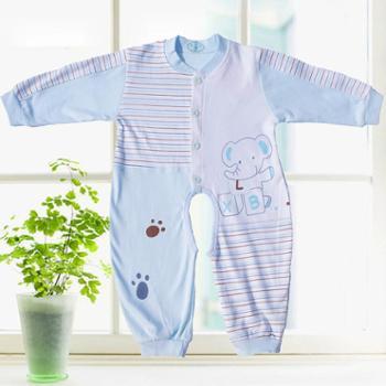 精梳纯棉宝宝秋装婴儿连体保暖内衣新生儿爬服哈衣