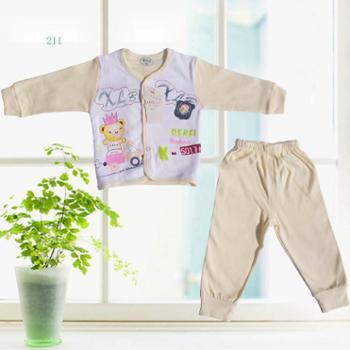 奉生纯棉宝宝对襟套装内衣家居服0-1岁