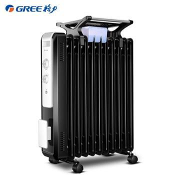 格力油汀取暖器家用节能11片油丁电暖气省电暖炉电热暖风机电暖器