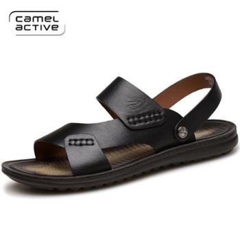 骆驼动感夏季男士真皮鞋凉鞋男5617