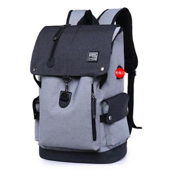 风动男双肩包书包防盗包休闲户外商务笔记本电脑包