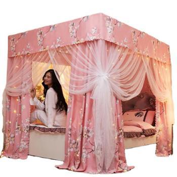 罗莱雅落地式欧式宫廷双层遮光床幔遮光蚊帐方形