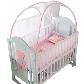 罗莱雅免安装婴儿蚊帐宝宝防摔儿童加固加厚防蚊蒙古包蚊帐