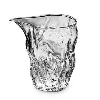 谁美日式锤纹耐热高温玻璃公道杯