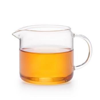 谁美加厚玻璃公道杯泡茶茶漏分茶器鹰嘴茶海杯带手把玻璃功夫茶具sm