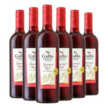 原瓶进口美国嘉露家族庄园夏日红葡萄酒红酒750ml*6建发酒业