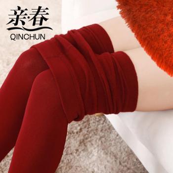 【亲春】秋冬款加绒踩脚连脚打底裤拉绒打底裤