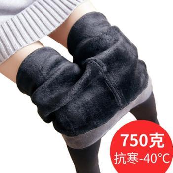 【亲春】东北抗寒特厚750g打底裤加绒保暖一体裤