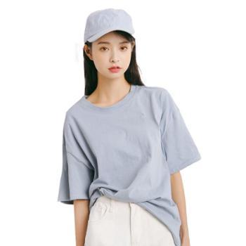 gangsta春夏品质好货韩版宽松纯色纯棉T恤M398