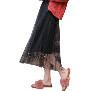 亲春百褶裙半身裙网纱裙B333