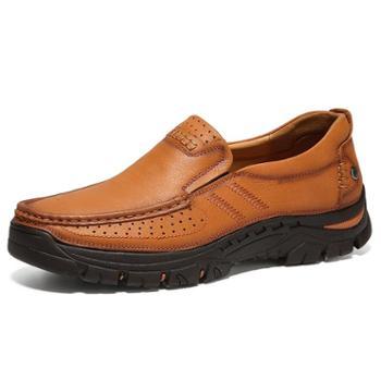 上匠风华头层牛皮户外工装单鞋80077