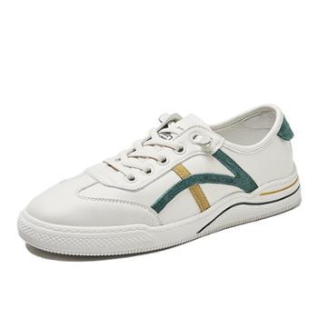 上匠风华超纤皮女子小白鞋k603