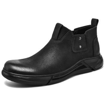 上匠风华男子切尔西工装鞋2089
