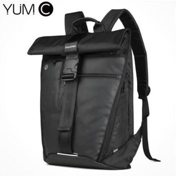 美国YUMC双肩包男商务背包男士背包旅行出差大容量潮品黑色