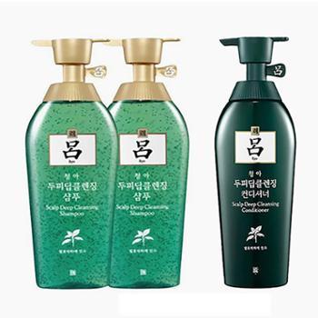 吕/Ryo【3瓶装】绿吕控油去屑2洗1护500ml/瓶
