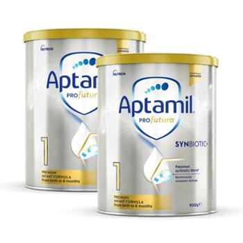 Aptamil【2件装】澳洲爱他美白金版婴儿配方奶粉1段900g/罐