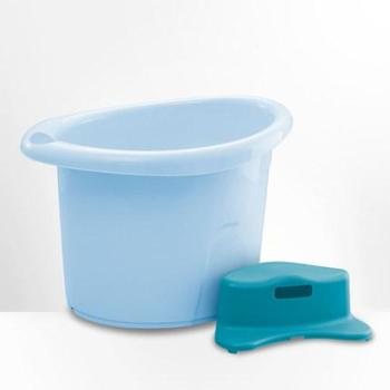 世纪宝贝新生儿浴盆婴儿洗澡桶宝宝浴盆可坐躺新生儿澡盆婴儿浴桶