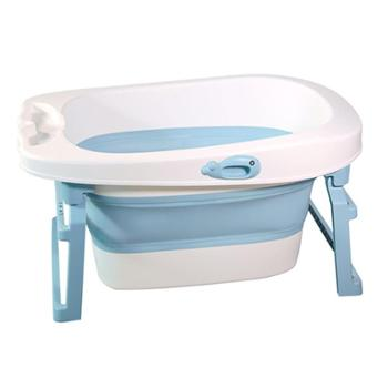 婴儿折叠浴盆宝宝洗澡盆小孩儿童大号可坐躺通用新生儿用品沐浴桶