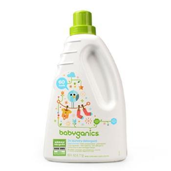 甘尼克宝贝babyganics婴幼儿洗衣液3倍浓缩新生宝宝专用无香1.77L