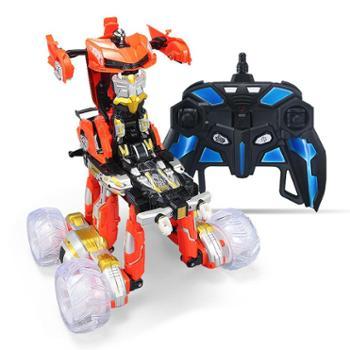 凌盛玩具 充电越野翻斗变形异形怪翻转特技车男童电动遥控车男孩儿童玩具车