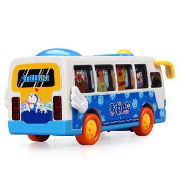 益米 哆啦A梦惯性车万向车 宝宝电动巴士儿童玩具车男孩玩具3-6岁