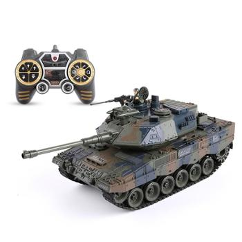 亲子部落 遥控坦克发射打子弹充电对战车电动儿童汽车超大号履带式男孩玩具