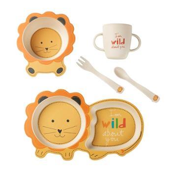 COECO/可爱客 环保竹纤维宝宝餐具套装 儿童辅食饭碗婴儿分格餐盘卡通